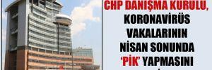 CHP Danışma Kurulu, koronavirüs vakalarının Nisan sonunda 'pik' yapmasını bekliyor