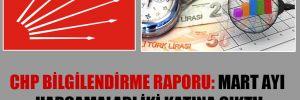 CHP Bilgilendirme Raporu: Mart ayı harcamaları iki katına çıktı!