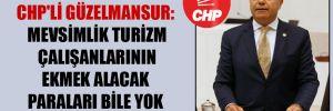 CHP'li Güzelmansur: Mevsimlik turizm çalışanlarının ekmek alacak paraları bile yok