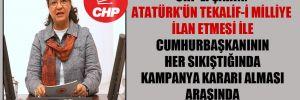 CHP'li Şahin: Atatürk'ün Tekalif-i Milliye ilan etmesi ile Cumhurbaşkanının her sıkıştığında kampanya kararı alması arasında hiçbir benzerlik yok