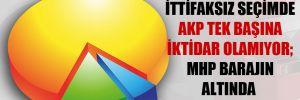 İttifaksız seçimde AKP tek başına iktidar olamıyor; MHP barajın altında kalıyor