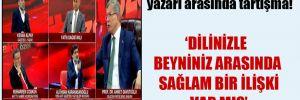 Davutoğlu ile Yeni Akit yazarı arasında tartışma!