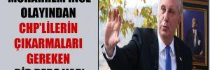 'Muharrem İnce olayından CHP'lilerin çıkarmaları gereken bir ders var'