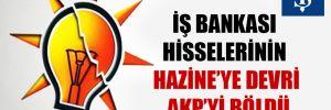 İş Bankası hisselerinin Hazine'ye devri AKP'yi böldü