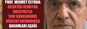 Prof. Mehmet Ceyhan: Belirtisi olmayan, dolayısıyla tanı konulmamış kişileri bulmadıkça rakamları aşağı indirmemiz zor