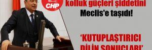 CHPli Aydoğan kolluk güçleri şiddetini Meclis'e taşıdı!