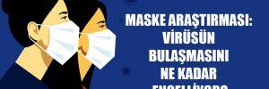 Maske araştırması: Virüsün bulaşmasını ne kadar engelliyor?