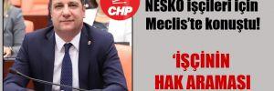 CHP'li Ceylan, NESKO işçileri için Meclis'te konuştu!
