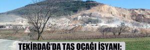 Tekirdağ'da taş ocağı isyanı: Ürünlerimiz zarar gördü