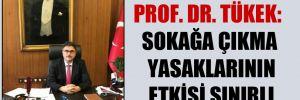 Prof. Dr. Tükek: Sokağa çıkma yasaklarının etkisi sınırlı
