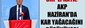 CHP'li Kaya: AKP Haziran'da kar yağacağını düşünüyor!