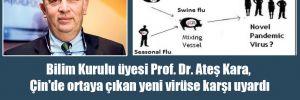 Bilim Kurulu üyesi Prof. Dr. Ateş Kara, Çin'de ortaya çıkan yeni virüsse karşı uyardı