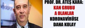 Prof. Dr. Ateş Kara: Kan grubu A olanlar koronavirüse daha kolay yakalanıyor!