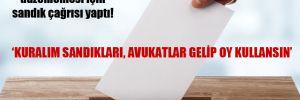 CHP 'çoklu baro' düzenlemesi için sandık çağrısı yaptı!
