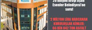 Toplam borcu 20 milyon lirayı aşan Esenler Belediyesi'ne soru!