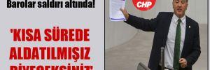 CHP'li Emir: Barolar saldırı altında! 'Kısa sürede aldatılmışız diyeceksiniz'