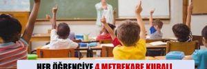 Her öğrenciye 4 metrekare kuralı, okullardaki fiziki şartlarla örtüşmüyor…