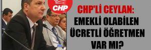 CHP'li Ceylan: Emekli olabilen ücretli öğretmen var mı?