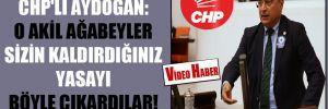 CHP'li Aydoğan: O akil ağabeyler sizin kaldırdığınız yasayı böyle çıkardılar!