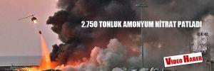 Beyrut şiddetli patlamalarla adeta sarsıldı!