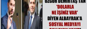 Özgür Demirtaş'tan 'dolarla ne işiniz var' diyen Albayrak'a sosyal medyayı sallayan yanıt!