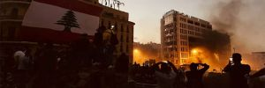 Lübnan'da göstericiler bakanlık binalarını bastı
