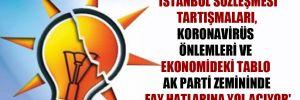 'İstanbul Sözleşmesi tartışmaları, Koronavirüs önlemleri ve ekonomideki tablo AK Parti zemininde fay hatlarına yol açıyor'