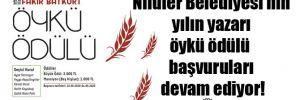 Nilüfer Belediyesi'nin yılın yazarı öykü ödülü başvuruları devam ediyor!