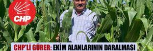 CHP'li Gürer: Ekim alanlarının daralması çiftçinin sessiz protestosudur!