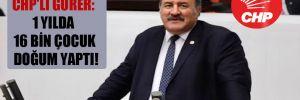 CHP'li Gürer: 1 yılda 16 bin çocuk doğum yaptı!