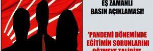 81 CHP il başkanından eş zamanlı basın açıklaması!