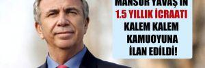 Mansur Yavaş'ın 1.5 yıllık icraatı kalem kalem kamuoyuna ilan edildi!