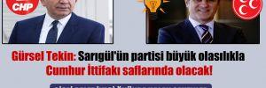 Gürsel Tekin: Sarıgül'ün partisi büyük olasılıkla Cumhur İttifakı saflarında olacak!