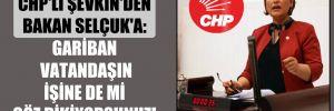 CHP'li Şevkin'den Bakan Selçuk'a: Gariban vatandaşın işine de mi göz dikiyorsunuz!