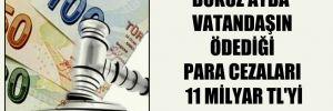 Dokuz ayda vatandaşın ödediği para cezaları 11 milyar TL'yi aştı