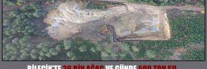 Bilecik'te 36 bin ağaç ve günde 500 ton su maden ocağına 'kurban' gidecek!