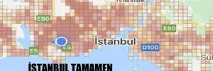 İstanbul tamamen kırmızıya büründü!