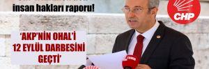 CHP'li Antmen'den insan hakları raporu!