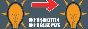 AKP'li şirketten AKP'li belediyeye gıda kolileri!