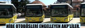 Hibe otobüsleri engelleyen AKP'liler, 'Nerede hibe?' diye sordu