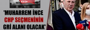 'Muharrem İnce CHP seçmeninin gri alanı olacak'