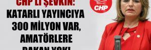 CHP'li Şevkin: Katarlı yayıncıya 300 milyon var, amatörlere bakan yok!
