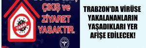 Trabzon'da virüse yakalananların yaşadıkları yer afişe edilecek!