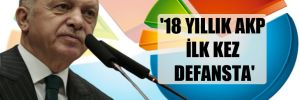'18 yıllık AKP ilk kez defansta'