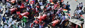 Hindistan'da liberal tarım yasasına karşı Traktör Yürüyüşü