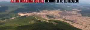 Doğu Biga Madencilik'in siyanürle altın aradığı bölge rehabilite edilecek!