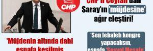 CHP'li Ceylan'dan Saray'ın 'müjdesine' ağır eleştiri! 'Müjdenin altında dahi esnafa kesilmiş yeni fatura var'