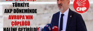 CHP'li Öztunç: Türkiye AKP döneminde Avrupa'nın çöplüğü haline getirildi