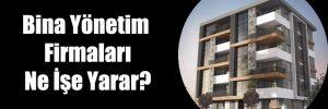 Bina Yönetim Firmaları Ne İşe Yarar?