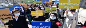 Deva Partili kadınlar İstanbul Sözleşmesi için Danıştay'a yürüdü!